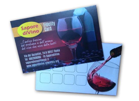 fidelity card Sapore diVino